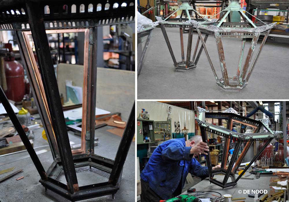 De nood koperen lantaarns spanjaardsbrug worden gerestaureerd for De lantaarn rotterdam