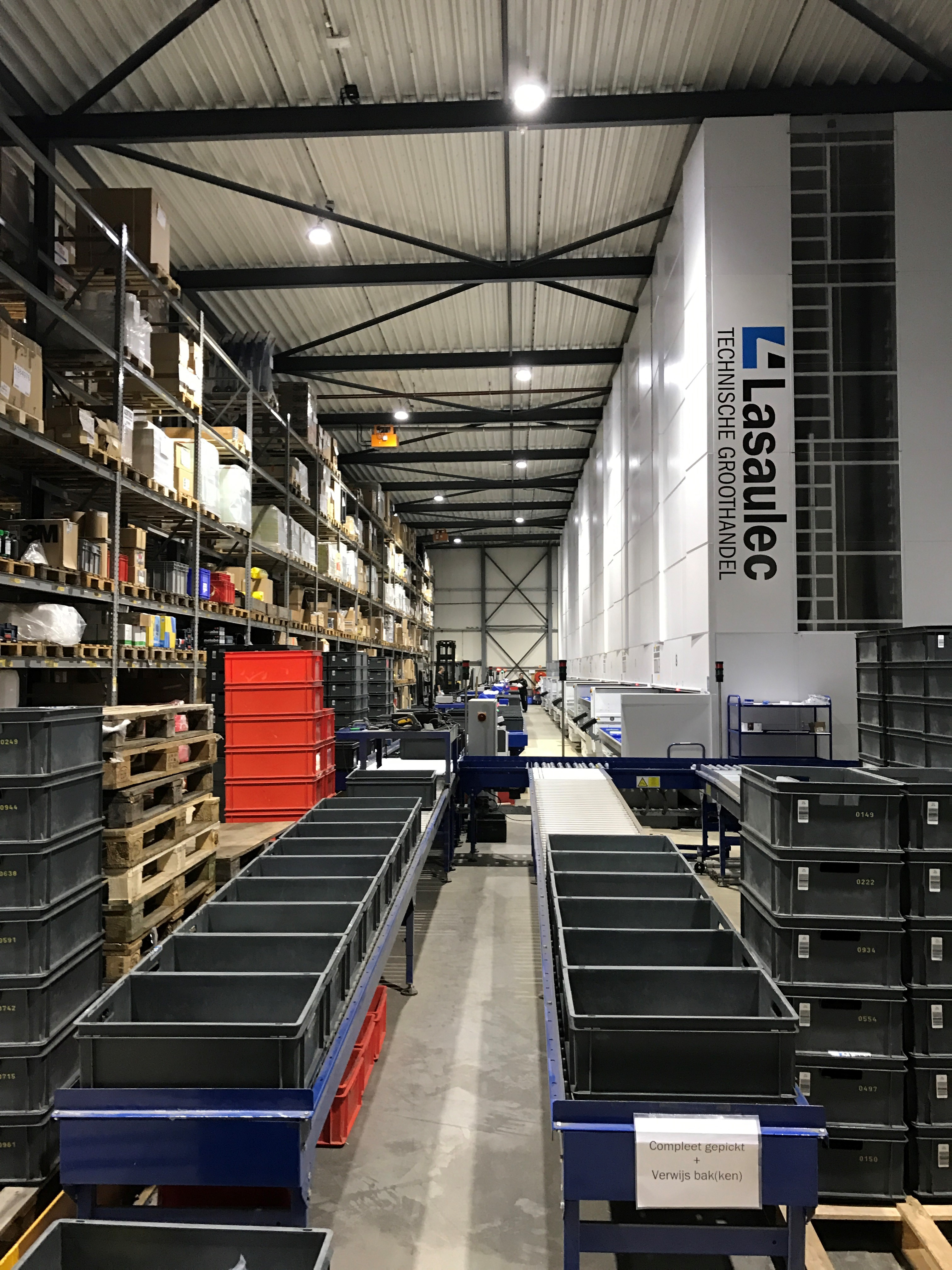 Havé-Digitap realiseert LED verlichting voor het magazijn van Lasaulec